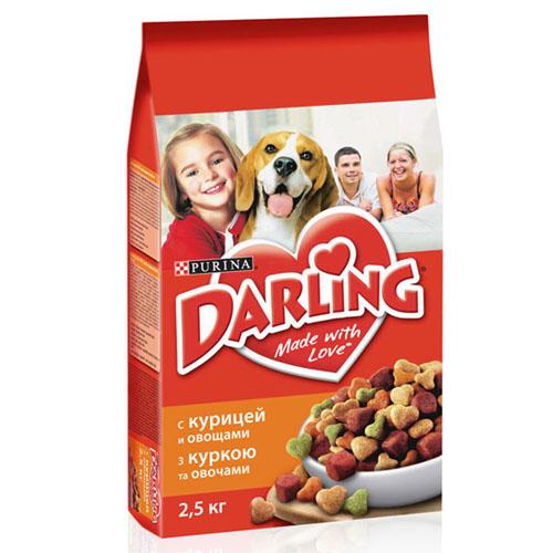"""Корм сухой """"Darling"""" для взрослых собак, с птицей и овощами, 2,5 кг 12187227"""