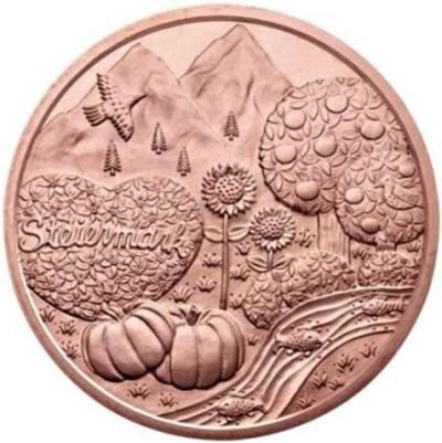 Монета номиналом 10 евро Штирия. Австрия, 2012 годF30 BLUEМонета номиналом 10 евро Штирия. Австрия, 2012 год Металл: Cu Диаметр: 32 мм Масса: 15,0 г Тираж: 130000 шт. Состояние: UNC (без обращения)