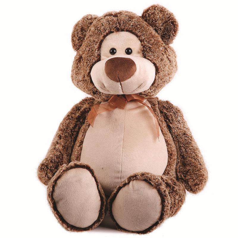 Мягкая игрушка Button Blue Мишка Потап, цвет: коричневый, 50 см41-1127C1Симпатичная мягкая игрушка Мишка Потап с атласным бантиком на шее, выполненная из искусственного меха и трикотажа, не оставит равнодушным ни ребенка, ни взрослого и вызовет улыбку у каждого, кто ее увидит. Необычайно мягкая, она принесет радость и подарит своему обладателю мгновения нежных объятий и приятных воспоминаний. Оригинальный дизайн, европейский стиль и великолепное качество исполнения делают эту игрушку чудесным подарком к любому празднику, а жизнерадостный образ представит такой подарок в самом лучшем свете. Характеристики: Высота игрушки: 50 см. Материал: мех искусственный, трикотаж. Набивка: полиэфирное волокно. Фурнитура: пластик. Изготовитель: Китай.