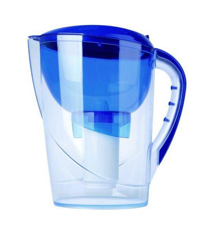 Фильтр-кувшин Гейзер Аквариус, цвет: синий62025 синийФильтр-кувшин Гейзер Аквариус. Фильтр-кувшин для очистки водопроводной и скважиной воды. Кувшин выполнен из высококачественного немецкого пищевого пластика. В крышке фильтра имеется специальный клапан, с помощью которого можно заливать воду, не снимая крышки. Нескользящая ручка позволяет удобно держать кувшин. В комплект Гейзер Аквариус входиткартридж 501 для фильтра-кувшина, состоящий из уникального материала Каталон, ионообменной смолы и кокосового угля. Удаляет ржавчину, растворенное железо, органические соединения, тяжёлые металлы, хлор и др. виды примесей. Содержит активное серебро в несмываемой форме, которое блокирует размножение бактерий. Картридж вкручивается в приемную воронку кувшина, обеспечивая герметичное соединение, что позволяет исключить протечку исходной воды в отфильтрованную. Преимущества Фильтра-кувшина Гейзер Аквариус: - Картридж с материалом Каталон (100% защита от вирусов). - Специальный клапан для заливки воды. -...