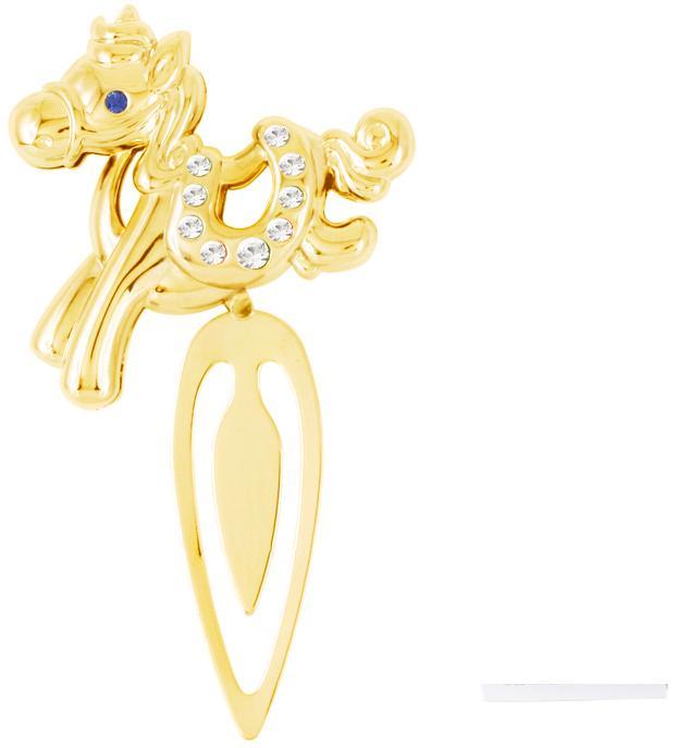 Закладка Crystocraft Лошадка, цвет: золотистыйU0401-163-GC1AИзящная закладка золотистого цвета оформлена миниатюрной фигуркой в виде лошадки. Кристаллы, украшающие фигурку, носят громкое имя Swarovski. Ограненные, как бриллианты, кристаллы блистают сотнями тысяч различных оттенков. Эта очаровательная вещь послужит отличным подарком близкому человеку, родственнику или другу, а также подарит приятные мгновения и окунет вас в лучшие воспоминания. Характеристики: Материал: сталь, австрийские кристаллы. Размер закладки: 4,5 см х 8,5 см х 1 см. Цвет: золотистый. Размер упаковки: 7 см х 14 см х 2 см. Артикул: U0401-163-GC1A. Более чем 30 лет назад компания Crystocraft выросла из ведущего производителя в перспективную торговую марку, которая задает тенденцию благодаря безупречному чувству красоты и стиля. Компания создает изящные, качественные, яркие сувениры, декорированные кристаллами Swarovski различных размеров и оттенков, сочетающие в себе превосходное мастерство обработки металлов и...