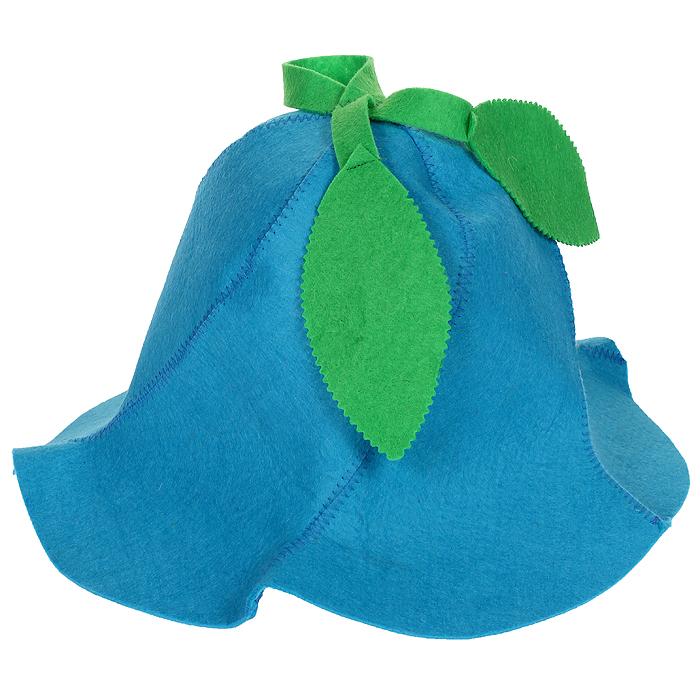 Шапка для бани и сауны Вьюнок, цвет: голубой905245Шапка для бани и сауны Вьюнок, изготовленная из фетра, это незаменимый аксессуар для любителей попариться в русской бане и для тех, кто предпочитает сухой жар финской бани. Необычный дизайн изделия поможет сделать ваш отдых более приятным и разнообразным, к тому шапка защитит вас от появления головокружения в бани, ваши волосы от сухости и ломкости, а голову от перегрева. Такая шапка станет отличным подарком для любителей отдыха в бане или сауне. Характеристики: Материал: фетр (100% полиэстер). Цвет: голубой. Диаметр основания шапки: 31 см. Высота шапки: 24 см. Артикул: 905245.