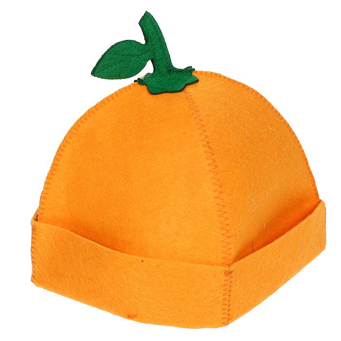 Шапка для бани и сауны Апельсинка, цвет: оранжевый905249Шапка для бани и сауны Апельсинка, изготовленная из войлока, это незаменимый аксессуар для любителей попариться в русской бане и для тех, кто предпочитает сухой жар финской бани. Необычный дизайн изделия поможет сделать ваш отдых более приятным и разнообразным, к тому шапка защитит вас от появления головокружения в бани, ваши волосы от сухости и ломкости, а голову от перегрева. Такая шапка станет отличным подарком для любителей отдыха в бане или сауне. Характеристики: Материал: войлок (100% полиэстер). Цвет: оранжевый. Диаметр основания шапки: 29 см. Высота шапки: 21 см. Артикул: 905249.