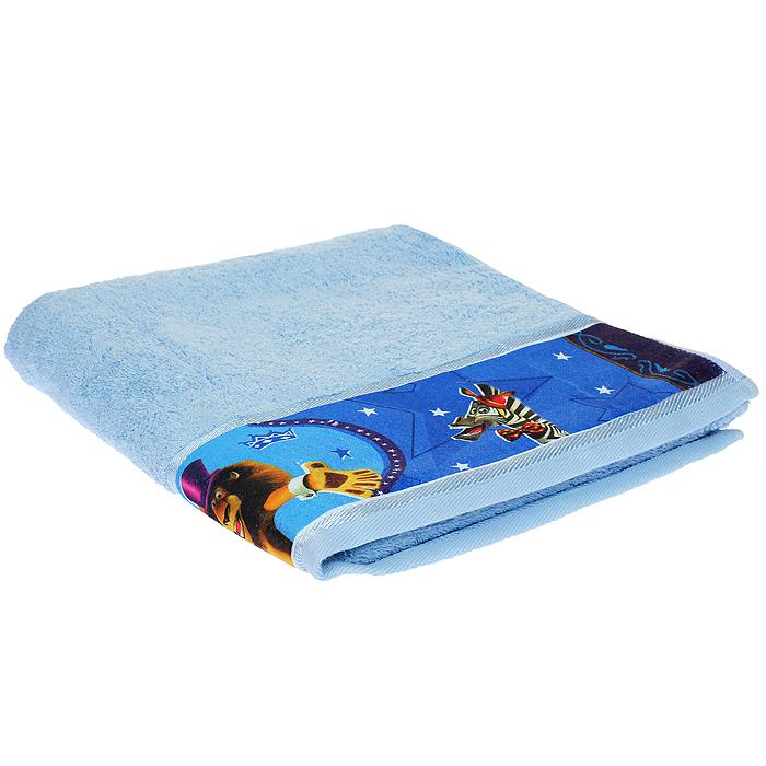 Полотенце махровое Непоседа Мадагаскар. Алекс, цвет: голубой, 60 см х 130 см218703Махровое полотенце Непоседа Мадагаскар. Алекс, изготовленное из натурального хлопка, комфортно в ежедневном применении благодаря особо мягкой текстуре полотна. Махровая ткань полотенца отличается равномерным невысоким ворсом. Полотенце выполнено в сочном голубом цвете и оформлено изображением отважного льва Алекса, персонажа известного мультфильма Мадагаскар. Махровое полотенце Непоседа Мадагаскар. Алекс подарит ощущение комфорта, а любимые персонажи создадут позитивное настроение у вашего малыша.
