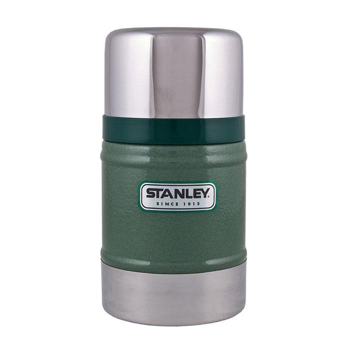 Термос Stanley Classic Vacuum Food, цвет: темно-зеленый, 0,5 л10-00811-010Термос Stanley Classic Vacuum Food с широким горлом для первых и вторых блюд. Благодаря вакуумной колбе термос удерживает тепло и холод на протяжении 12 часов. Особенности: - вакуумная изоляция, - корпус и внутренняя колба - из нержавеющей стали, - наружное покрытие - абразивостойкая эмаль, - крышка - термостакан объемом 350 мл, - термос герметичен. Размер термоса: 10 см х 10 см х 18,5 см. Гарантийный срок 5 лет. Возврат товара возможен только через сервисный центр. Гарантийный центр: м. ВДНХ, Ботанический сад 129223, г. Москва, Проспект Мира, 119, ВВЦ, строение 323 +7 495 974 3494 service@omegatool.ru Время работы сервисного центра: Пн-чт: 10.00-18.00 Пт: 10.00- 17.00 Сб, Вс: выходные дни
