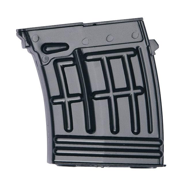ASG магазин для Dragunov SVD-S spring, 6 мм (17174)17174Механический магазин (70 шариков) для страйкбольной пружинной винтовки Dragunov SVD-S  6 мм (артикул 17154). Уважаемые покупатели, при использовании пневматики соблюдайте технику безопасности: храните в разряженном состоянии в местах недоступных для детей, не направляйте на людей и животных, при стрельбе следите, чтобы в районе мишени не было людей, всегда используйте защитные очки и экипировку, перевозите пневматику в чехлах и сумках, не носите открыто в общественных местах! Перед использованием прочтите инструкцию! Грамотное обращение с пневматикой - залог Вашего приятного отдыха! Уважаемые покупатели, обращаем Ваше внимание, что авиадоставка в нижеперечисленные города этого товара временно недоступна! 1. Ангарск 2. Благовещенск 3. Бодайбо 4. Братск 5. Владивосток 6. Воркута 7. Иркутск 8. Калининград 9. Надым 10. Нарьян-Мар 11. Находка 12. Норильск 13. Петропавловск-Камчатский 14. Салехард ...