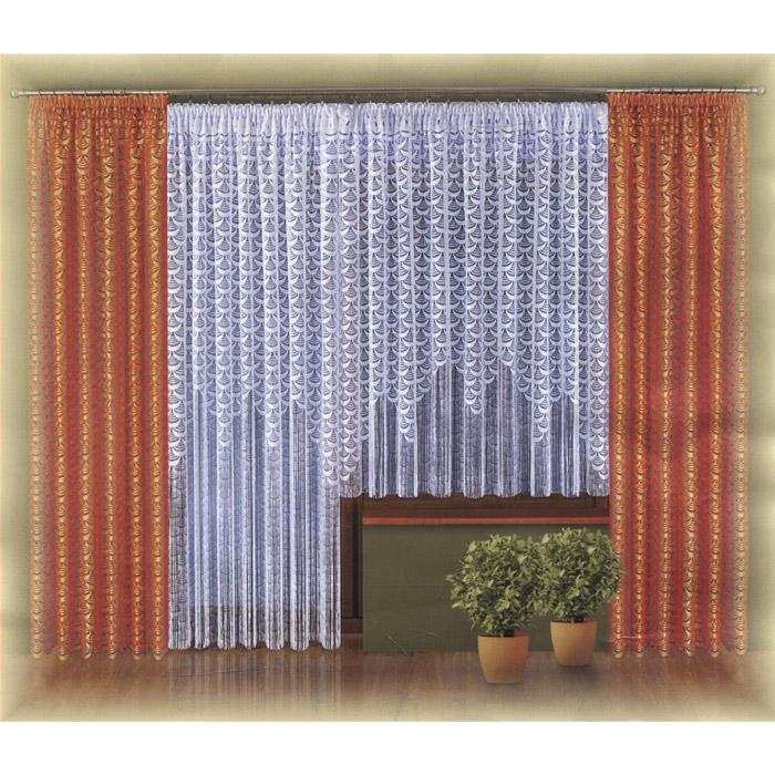 Комплект штор Wisan Lara, на ленте, цвет: оранжевый, белый, высота 250 смW021 оранжево/белыйКомплект штор Wisan Lara, выполненный из полиэстера, великолепно украсит любое окно. Комплект состоит из двух штор, тюля для окна и тюля для балконной двери. Шторы выполнены из легкой ажурной ткани оранжевого цвета. Ажурные тюли белого цвета декорированы длинной бахромой по низу. Тонкое плетение, оригинальный дизайн и нежная цветовая гамма привлекут к себе внимание и органично впишутся в интерьер комнаты. Все предметы комплекта - на шторной ленте для собирания в сборки. Характеристики: Материал: 100% полиэстер. Цвет: оранжевый, белый. Размер упаковки: 36 см х 29 см х 8 см. Артикул: W021. В комплект входят: Штора - 2 шт. Размер (Ш х В): 150 см х 250 см. Тюль для окна - 1 шт. Размер (Ш х В): 300 см х 180 см. Тюль для балконной двери - 1 шт. Размер (Ш х В): 200 см х 250 см. Фирма Wisan на польском рынке существует уже более пятидесяти лет и является одной из лучших польских фабрик по производству штор и тканей....