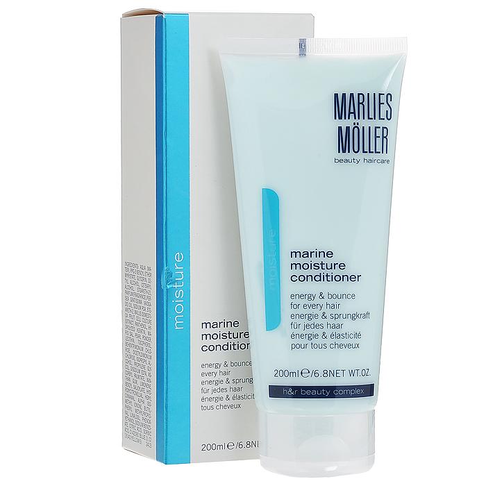 Marlies Moller Кондиционер Moisture, увлажняющий, 200 мл21068MMsГлубоко питающий и увлажняющий кондиционер Marlies Moller Moisture, содержащий морские минералы, богат аминокислотами, что придает вашим волосам эластичность и энергию. В то же время кондиционер укрепляет и увлажняет волосы, не утяжеляя их. Волосы становятся мягкими, эластичными и укреплёнными от корней до кончиков.