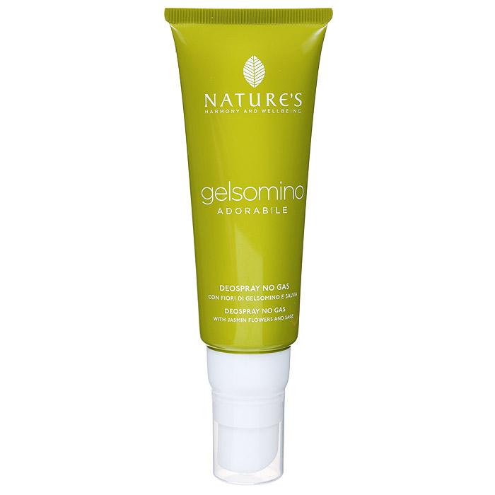 Natures Дезодорант Gelsomino, женский, 75 мл60340902Дезодорант для тела обеспечивает комфорт и свежесть надолго. Эффективно воздействует на патогенную флору, освежает и дарит ощущение благополучия. Отсутствие спирта, солей алюминия и других антиперспирантных агентов гарантирует идеальное состояние даже самой чувствительной кожи. Не оставляет пятен.