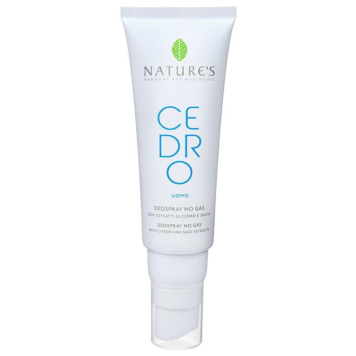 Natures Дезодорант Cedro, мужской, 75 мл60270903Дезодорант Natures Cedro для тела обеспечивает комфорт и свежесть надолго. Эффективно воздействует на патогенную флору, освежает и дарит ощущение благополучия. Отсутствие спирта, солей алюминия и других антиперспирантных агентов гарантирует идеальное состояние даже самой чувствительной кожи. Не оставляет пятен.