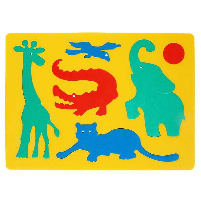 Мягкая мозаика Африка, 6 элементов, в ассортименте45350Яркая мозаика Африка привлечет внимание вашего малыша. Она выполнена из мягкого полимера, который дает юному конструктору новые удивительные возможности в игре: детали мозаики гнутся, но не ломаются, их всегда можно состыковать. Мозаика представляет собой рамку, в которую вкладываются шесть элементов в виде попугая, крокодила, тигра, жирафа, слона и мяча. Ваш ребенок сможет собрать мозаику и в ванной. Элементы можно намочить, благодаря чему они будут хорошо прилипать к стене в ванной комнате. Такая мозаика развивает пространственное и логическое мышление, память и глазомер, знакомит с формами и цветом предмета в процессе игры.