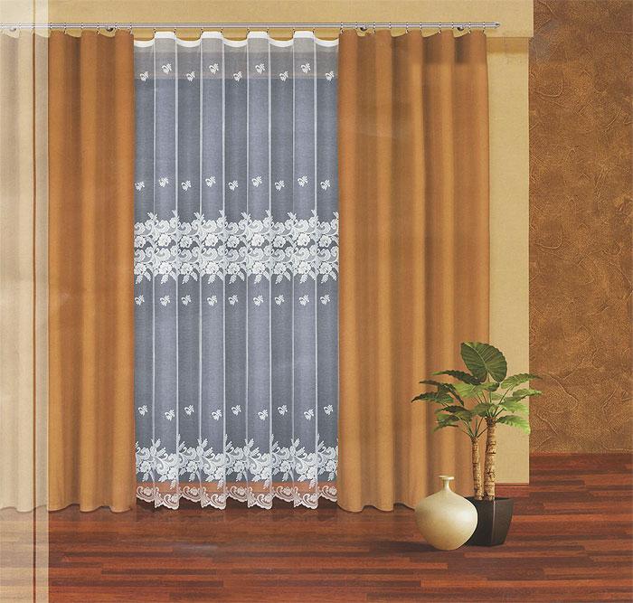 Комплект штор Haft, на ленте, цвет: белый, оливковый, высота 270 см. 203040/270203040/270 т.оливкаКомплект штор Haft, изготовленный из полиэстера, станет великолепным украшением любого окна. В набор входит 2 шторы оливкового цвета и тюль белого цвета. Воздушный тюль украшен ажурным рисунком. Все элементы комплекта на шторной ленте для собирания в сборки. Оригинальный дизайн и приятная цветовая гамма привлекут к себе внимание и органично впишутся в интерьер. Характеристики: Материал: 100% полиэстер. Цвет: белый, оливковый. Размер упаковки: 50 см х 35 см х 10 см. Артикул: 203040/270. В комплект входит: Штора - 2 шт. Размер (Ш х В): 160 см х 270 см. Тюль - 1 шт. Размер (Ш х В): 300 см х 270 см.