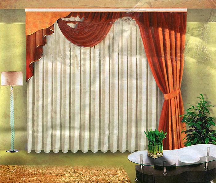 Комплект штор Zlata Korunka, на ленте, цвет: белый, золотистый, шоколад, высота 250 смБ012 бежево/шоколадныйКомплект штор Zlata Korunka великолепно украсит любое окно. Комплект состоит из двух штор, тюля и ламбрекена. Для более изящного расположения штор предусмотрен подхват. Тюль, ламбрекен и одна из штор выполнены из вуалевой ткани, основная штора изготовлена из жаккарда с изящным узором. Оригинальный дизайн и нежная цветовая гамма привлекут к себе внимание и органично впишутся в интерьер комнаты. Все предметы комплекта оснащены шторной лентой для собирания в сборки.
