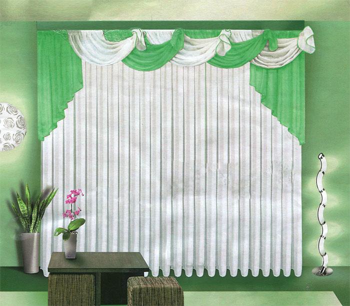 Комплект штор Zlata Korunka, на ленте, цвет: салатовый, белый, высота 250 см. Б067Б067 салатовыйКомплект штор Zlata Korunka, изготовленный из легкого полиэстера, станет великолепным украшением любого окна. В набор входит тюль белого цвета и ламбрекен бело-салатового цвета. Тюль и ламбрекен выполнены из полупрозрачной вуали. Все элементы комплекта на шторной ленте для собирания в сборки. Оригинальный дизайн и приятная цветовая гамма привлекут к себе внимание и органично впишутся в интерьер.