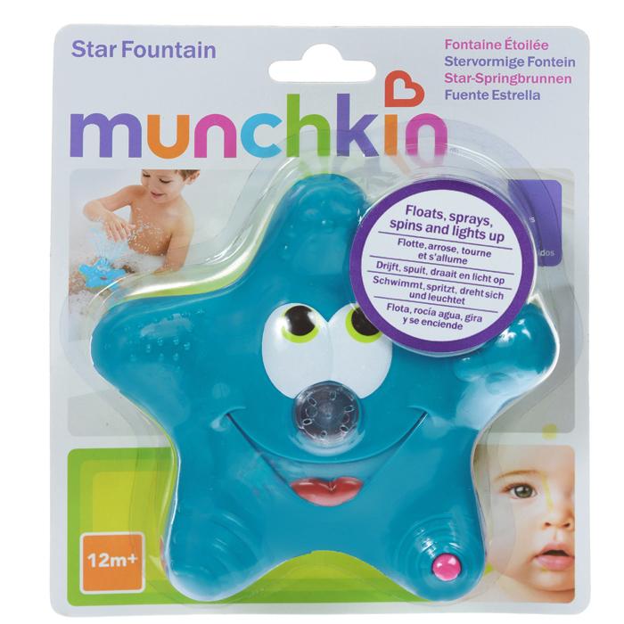 Игрушка для ванны Munchkin Звездочка, цвет: синий, салатовый11015Игрушка для ванны Munchkin Звездочка привлечет внимание вашего ребенка и превратит купание в веселую игру. Она выполнена из прочного безопасного пластика ярких цветов. Звездочка-фонтан плавает на поверхности воды, светится и вращается для увлекательной игры. Носик подает струйки воды, что, несомненно, позабавит малыша. Игрушка для ванны Munchkin Звездочка способствует развитию воображения, цветового восприятия, тактильных ощущений и мелкой моторики рук. Кредо Munchkin, американской компании с 20-летней историей: избавить мир от надоевших и прозаических товаров, искать умные инновационные решения, которые превращает обыденные задачи в опыт, приносящий удовольствие. Понимая, что наибольшее значение в быту имеют именно мелочи, компания создает уникальные товары, которые помогают поддерживать порядок, организовывать пространство, облегчают уход за детьми - недаром компания имеет уже более 140 патентов и изобретений, используемых в создании ее неповторимой и...