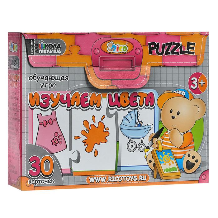 Обучающая игра Rico Школа для малыша: Изучаем цвета16-002Обучающая игра Rico Школа для малыша: Изучаем цвета в игровой форме познакомит вашего ребенка с десятью цветами: голубым, красным, желтым, серым, фиолетовым, оранжевым, розовым, коричневым, синим и зеленым. Комплект игры включает в себя 10 картонных карточек, каждая из которых состоит из трех элементов, соединяющихся между собой по принципу пазла. На элементах изображены цвет и различные предметы, животные, птицы, овощи, ягоды и другие. Ребенку предстоит правильно подобрать к каждому цвету две соответствующие ему картинки. Эта увлекательная и познавательная игра способствует развитию таких качеств как внимание, ассоциативное мышление, наблюдательность и усидчивость. Серия обучающих игр Школа для малыша - незаменимый помощник для родителей и воспитателей в развитии детей от 3-х лет. Все наборы серии направлены на развитие у ребенка познавательных навыков, мелкой моторики рук, памяти, внимания, структуры логического и ассоциативного мышления. С помощью...