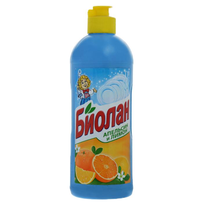 Жидкость для мытья посуды Биолан Апельсин и лимон, 500 мл371-3Жидкость для мытья посуды Биолан Апельсин и лимон эффективно удаляет жир, придает блеск посуде, не оставляя разводов. Отлично пенится и легко смывается водой. Обладает приятным ароматом цитрусовых. Характеристики: Объем: 500 мл. Артикул: 371-3. Товар сертифицирован.