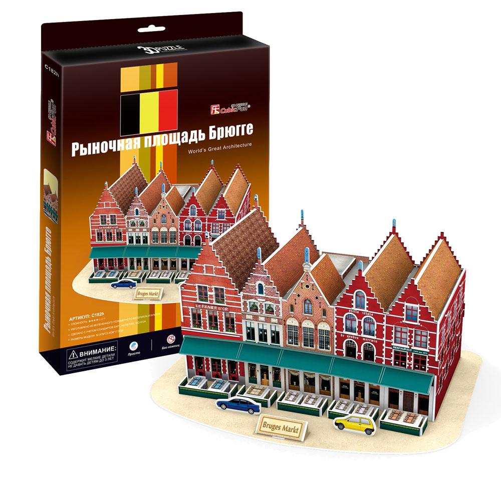 CubicFun Рыночная площадь Брюгге, 45 элементовC182hРыночная площадь Брюгге - уникальный конструктор-макет. При сборке модели не требуется дополнительных инструментов. Красочное освещение придает дополнительную выразительность зданию. Достаточно просто соединить элементы конструктора по приведенной схеме, и вы получите объемную модель всемирно известной площади. Как известно, исторический центр Брюгге внесен в список Всемирного наследия ЮНЕСКО, чему он во многом обязан Рыночной площади, которая является одним из интереснейших туристических мест Бельгии. Расположение рыночной площади указывает на то, что она была центром средневекового города. Здесь находилось коммерческое и административное ядро Брюгге, поскольку на площади располагались здания мэрии и суда, колокольня и Суконный зал. Создайте свою Вселенную с помощью объемного конструктора серии Worlds Great Architecture!
