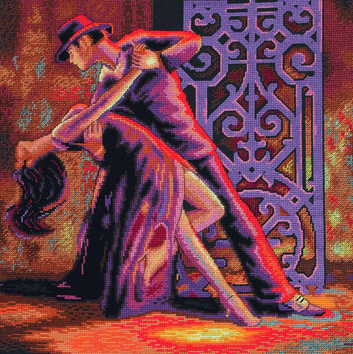 Набор для вышивания крестом Потанцуй со мной, 30 см х 30 см5678000-01169В наборе для вышивания крестом Потанцуй со мной есть все необходимое для создания роскошной интерьерной картины: обработанная канва Аида 16 черного цвета, хлопковые нитки мулине, символьная схема, 1 игла, инструкция по вышиванию на русском языке. Необычайной красоты рисунок-вышивка с красочным изображением танцующей пары, привлечет к себе внимание и будет потрясающе смотреться в интерьере вашего помещения. Вышивание крестом отвлечет вас от повседневных забот и превратится в увлекательное занятие! Работа, сделанная своими руками, создаст особый уют и атмосферу в доме, и долгие годы будет радовать вас и ваших близких.