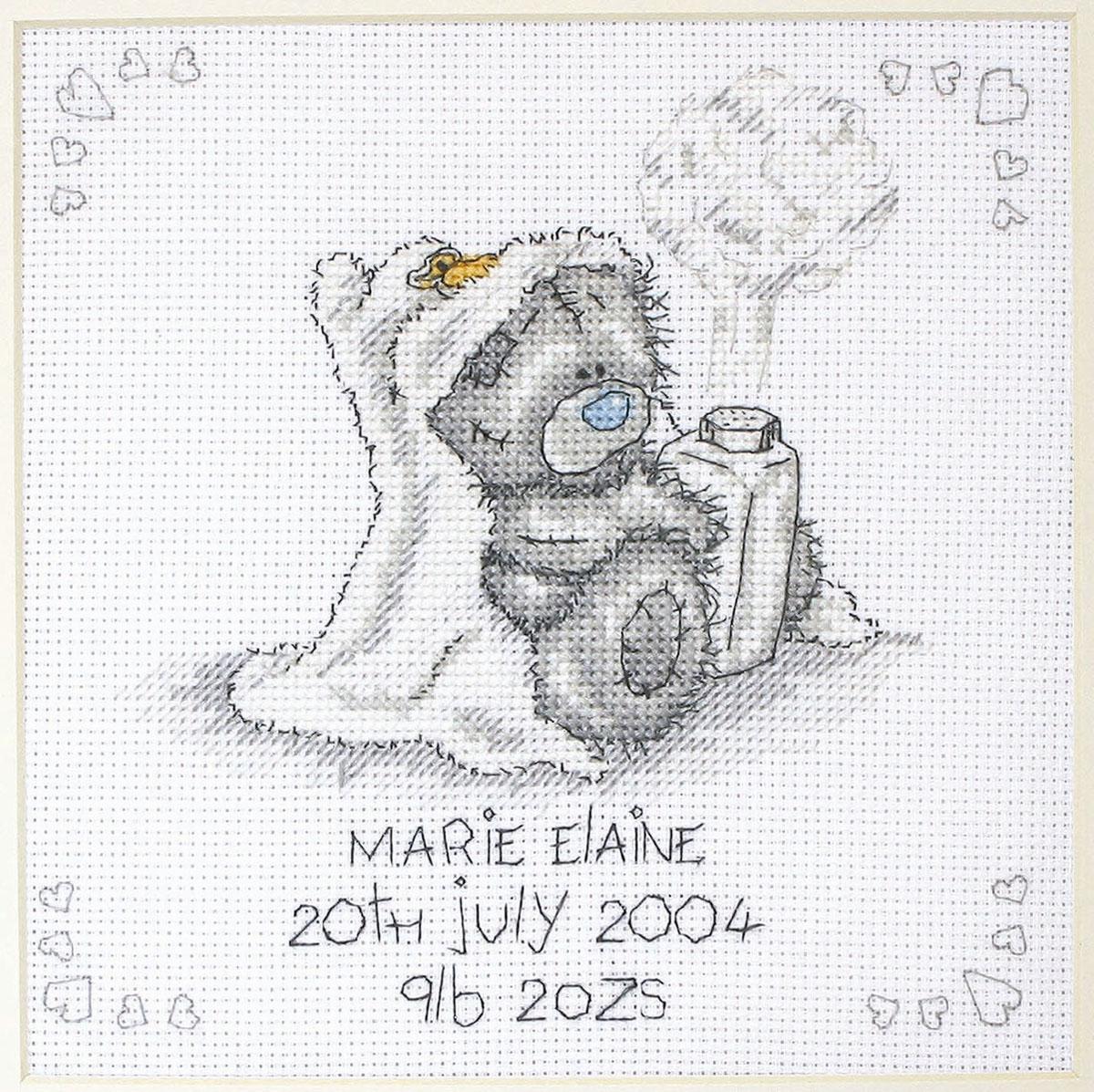 Набор для вышивания крестом Детская присыпка, 16 см х 16 смTT103В наборе для вышивания крестом Детская присыпка есть все необходимое для создания роскошной интерьерной картины: обработанная канва Аида 14 белого цвета, хлопковые нитки мулине, символьная схема, 1 игла, инструкция по вышиванию на русском языке. Необычайной красоты рисунок-вышивка с изображением милого медвежонка Тедди в полотенце с капюшоном и детской присыпкой в лапках привлечет к себе внимание и будет потрясающе смотреться в интерьере вашего помещения, особенно в интерьере детской комнаты. Вышивание крестом отвлечет вас от повседневных забот и превратится в увлекательное занятие! Работа, сделанная своими руками, создаст особый уют и атмосферу в доме, и долгие годы будет радовать вас и ваших близких.