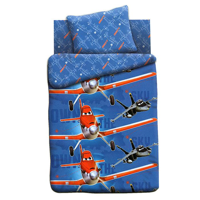 Постельное белье Непоседа Самолеты (1,5 спальный КПБ, хлопок, наволочка 70х70). 235667235667Постельное белье Самолеты, выполненное из 100% хлопка, создано для маленьких непосед. Комплект состоит из пододеяльника, простыни и наволочки. Красители, используемые для ткани гиппоаллергенны и экологичны и разрешены к использованию для детей. Оригинальный рисунок понравится ребенку. Этот комплект постельного белья украсит детскую спальню.