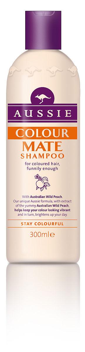 Aussie Шампунь Colour Mate, для окрашенных волос, 300 мл81446427Окрашенные волосы яркие, как и ты сама! Говорят, ничто не может длиться вечно, но мы считаем, что окрашенные волосы должны как можно дольше не терять яркости и лучезарного блеска. Aussie Colour Mate помогает защитить волосы от повреждений при окрашивании, сохраняет их живыми и соблазнительно яркими. Для этого в нем содержится целый ряд ценных ингредиентов, в том числе и экстракт Австралийского дикого персика, защитные свойства которого были известны еще австралийским аборигенам. А уж они-то кое-что понимали в том, как защитить свои волосы, даже если до ближайшей тени десятки километров. - Шампунь Aussie Colour Mate с экстрактом австралийского дикого персика защищает волосы и сохраняет их цвет насыщенным, соблазнительно ярким. Способ применения: Нанесите на мокрые волосы, вспеньте, глубоко вдохните и насладитесь восхитительным ароматом. Промойте водой. И кстати.. для наилучшего результата, конечно же используйте так же бальзам- ополаскиватель...