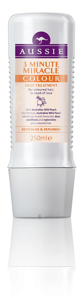 Aussie Средство интенсивного ухода 3 Minute Miracle Colour, для окрашенных волос, 250 мл81446446Окрашенные волосы яркие, как и ты сама! Говорят, ничто не может длиться вечно, но мы считаем, что окрашенные волосы должны как можно дольше не терять яркости и лучезарного блеcка. Aussie Colour Mate помогает защитить волосы от повреждений при окрашивании, сохраняет их живыми и соблазнительно яркими. Для этого в нем содержится целый ряд ценных ингредиентов, в том числе и экстракт Австралийского дикого персика, защитные свойства которого были известны еще австралийским аборигенам. А уж они-то кое-что понимали в том, как защитить свои волосы, даже если до ближайшей тени десятки километров. - Средство интенсивного ухода Aussie 3 Minute Miracle Colour c экстрактом дикого австралийского персика для окрашенных волос, которым нужна любовь и забота. Уникальной формуле понадобится всего 3 минуты, чтобы помочь преобразить сухие тусклые волосы и придать им энергии и шика. Способ применения: Лучше всего использовать в ванне вместе с хорошей музыкой и...