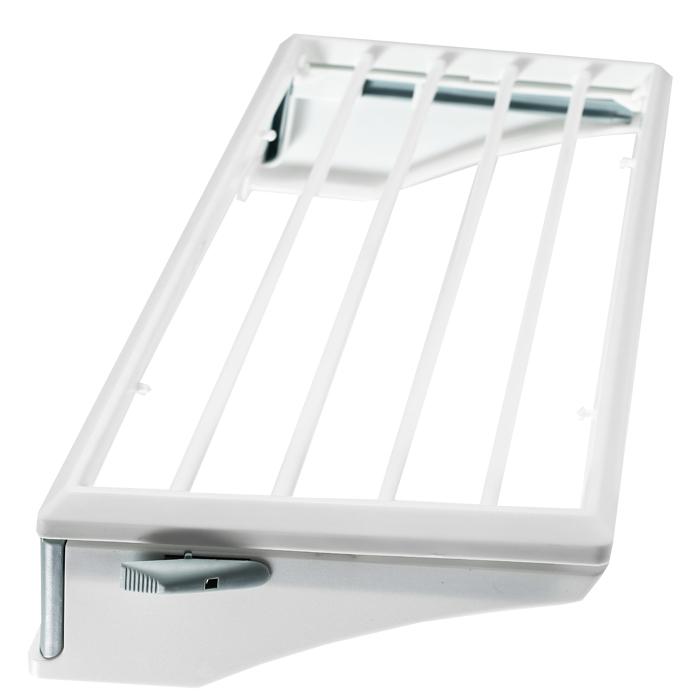 Сушка Rayen навесная, 50 см х 24 см х11 см37003192Сушилка для белья - удобная и функциональная вещью Предназначена для сушки небольших изделий. Идеальна для крепления на радиатор отопления, перечни балкона и т.д. Характеристики: Материал: пластмасса. Размер сушилки: 50 см х 24 см х 11 см. Размер упаковки: 51 см х 26 см х 5 см. Производитель: Испания. Артикул: 37003192.