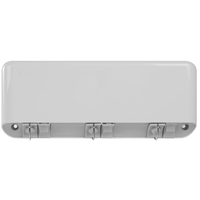 Сушилка для белья Rayen, навесная, 3 струны37003195Сушилка для белья Rayen - удобная и функциональная вещь. Идеально подходит для ванных комнат и балконов, но Вы можете ее установить в любом удобном для Вас месте. Сушилка крепится к стене, имеет 3 горизонтально расположенных веревки длиной по 5 метра каждая. Сушилка легко монтируется с помощью дюбелей и шурупов (прилагаются в комплект). Сушилка имеет автоматическую обратную намотку веревок на барабан сушилки. Характеристики: Материал: пластмасса. Размер сушилки: 28 см х 11,5 см х 4 см. Количество струн: 3 шт. Длина струны: 5 м. Размер упаковки: 29 см х 12 см х 4 см. Производитель: Испания. Артикул: 37003195.