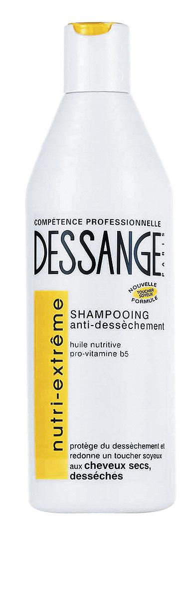 Dessange Шампунь Экстра питание, для сухих и истощенных волос, 250 млD0790616Шампунь Dessange Экстра питание специально предназначен для ухода за сухими, истонченными и жесткими волосами. Новая формула, обогащенная питательным маслом и провитамином В5, интенсивно питает, защищает волосы, возвращает им мягкость и шелковистость. День за днем волосы получают необходимое питание, они защищены и наполнены блеском. Товар сертифицирован.