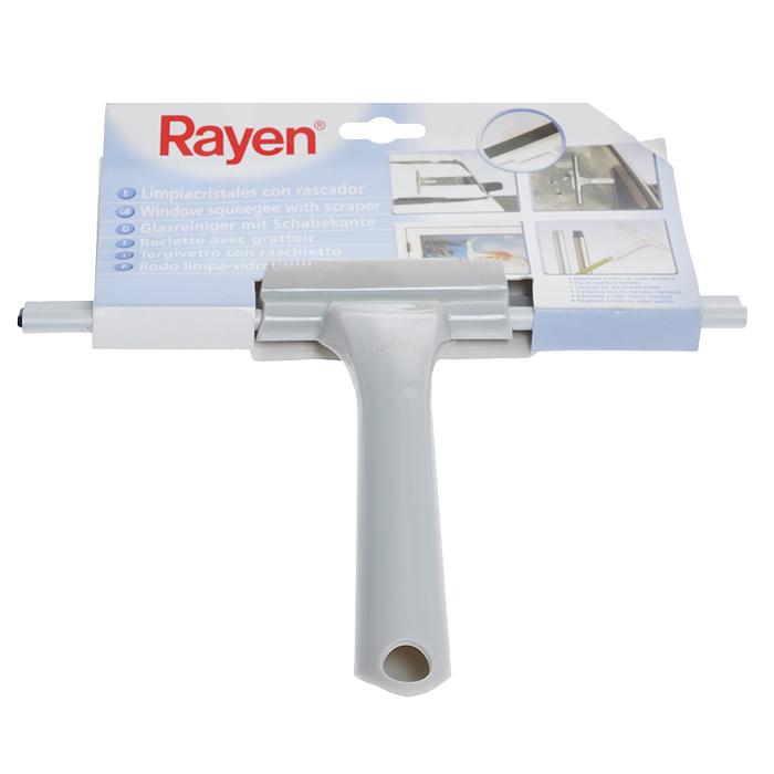 Щетка для окон Rayen, длина 25 см37003197Щетка для окон Rayen подходит для эффективного удаления водных остатков или моющего раствора с вымытых стекол и других гладких поверхностей. Изготовлен из прочного пластика, насадка выполнена из высококачественной эластичной резины, что позволяет одним движением согнать воду.