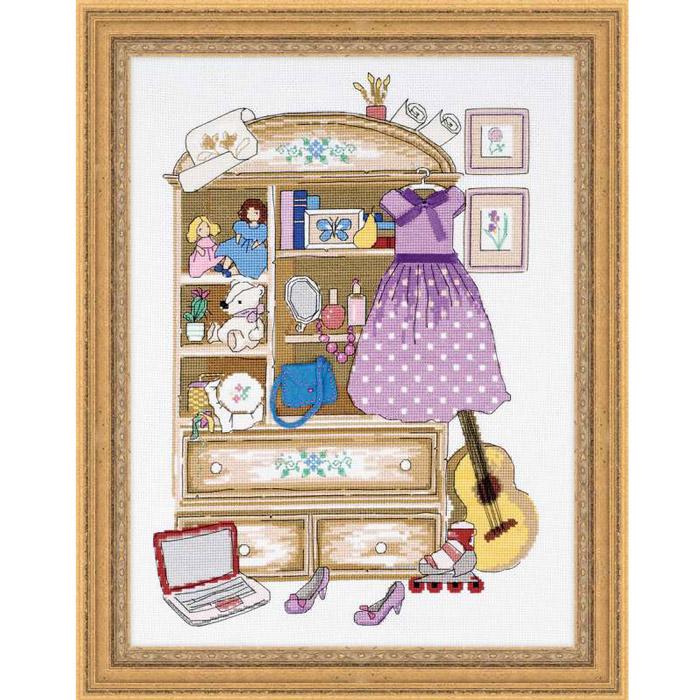 Набор для вышивания Шкафчик для девочки, 30 см х 40 см1373Красивый и стильный рисунок-вышивка, выполненный на канве, выглядит оригинально и всегда модно. В наборе для вышивания Шкафчик для девочки есть все необходимое для создания собственного чуда: канва, специальные нити, игла и схема рисунка. Работа, сделанная своими руками, создаст особый уют и атмосферу в доме и долгие годы будет радовать вас и ваших близких. Ведь вы выполните вышивку с любовью!