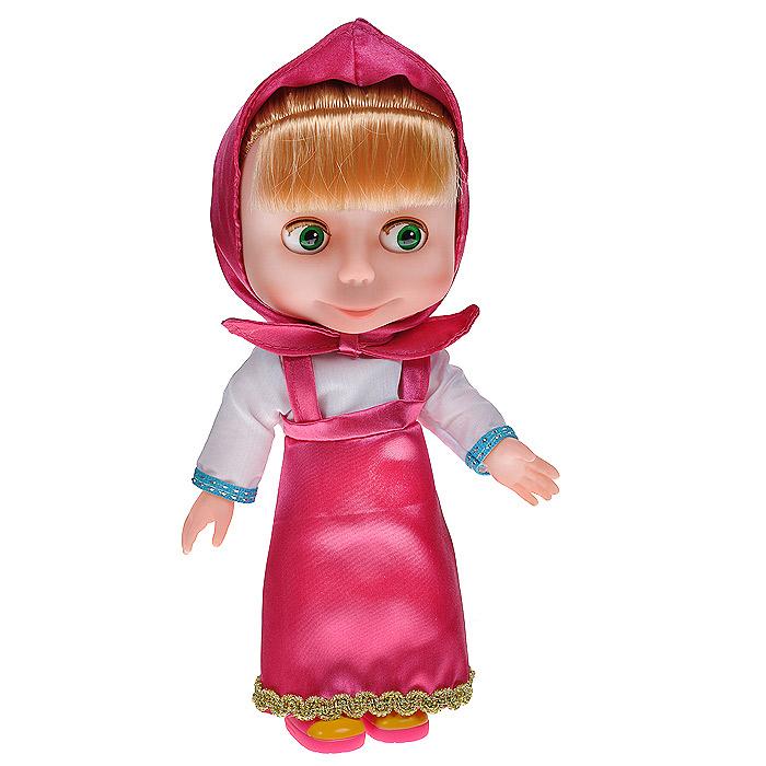 Карапуз Кукла Маша83033Кукла Карапуз Маша порадует вашу малышку и доставит ей много удовольствия от часов, посвященных игре с ней. Куколка выполнена в виде Маши - персонажа популярного мультсериала Маша и Медведь. Если нажать на животик куколки, то она будет произносить сто фраз из мультфильма и петь 4 песенки: Про дружбу, Ох, как же я люблю купаться!, Про следы, Про варенье. Туловище куклы выполнено из мягкого пластика, ее глазки закрываются и открываются. Игра в куклы учит детей проявлять заботу, доброту и выражать свои чувства. Порадуйте своего ребенка таким великолепным подарком. Рекомендуется докупить 3 батареи напряжением 1,5V типа L1131 (товар комплектуется демонстрационными).