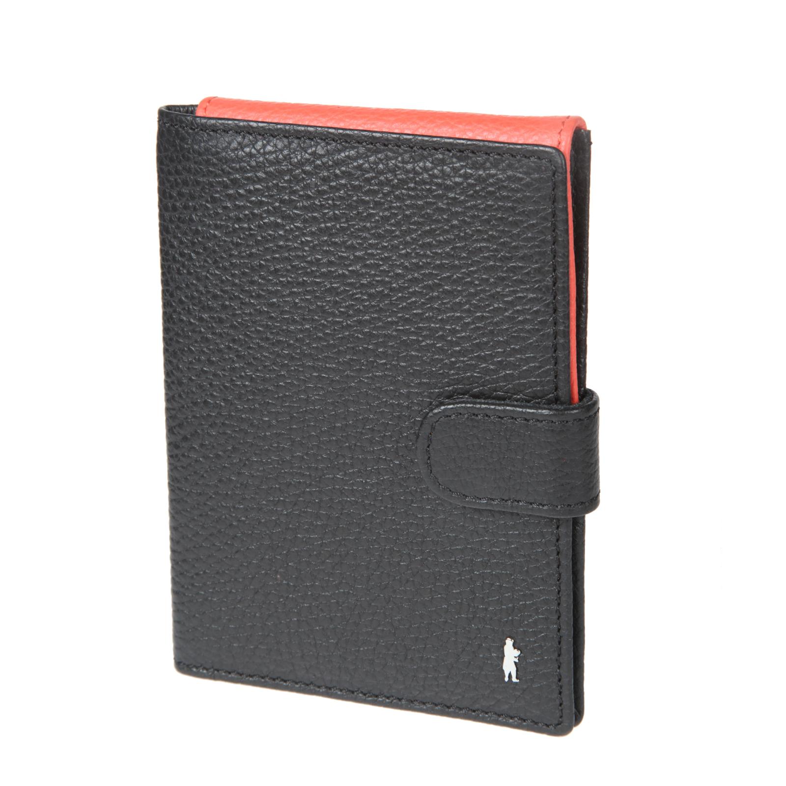 Обложка для паспорта с отделением для билетов Gianni Conti, цвет: черный, коралловый. 817489E Black817489E BlackСтильная обложка для паспорта с отделением для билетов Gianni Conti выполнена из натуральной кожи черного и кораллового цветов, которое закрывается хлястиком на кнопку. На внутреннем развороте расположено семь наборных кармашков для пластиковых карт и визиток, а также отделение для билетов. Такая обложка не только поможет сохранить внешний вид ваших документов и защитит их от повреждений, но и станет ярким аксессуаром, который подчеркнет ваш образ. Обложка упакована в подарочную картонную коробку черного цвета с логотипом фирмы.