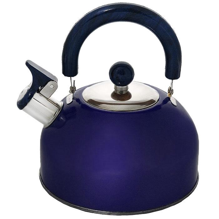 Чайник Mayer & Boch со свистком, цвет: синий, 2,5 л. МВ-3226МВ-3226_синийЧайник Mayer & Boch изготовлен из высококачественной нержавеющей стали. Гладкая и ровная поверхность существенно облегчает уход. Он оснащен удобной нейлоновой ручкой, которая не нагревается даже при продолжительном периоде нагрева воды. Носик чайника имеет насадку-свисток, что позволит вам контролировать процесс подогрева или кипячения воды. Выполненный из качественных материалов чайник Mayer & Boch при кипячении сохраняет все полезные свойства воды. Чайник пригоден для использования на всех типах плит, кроме индукционных. Можно мыть в посудомоечной машине. Характеристики: Материал: сталь, нейлон. Объем: 2,5 л. Диаметр основания чайника: 18,5 см. Высота чайника (с учетом ручки): 23 см. Высота чайника (без учета ручки): 16 см. Размер упаковки: 19 см х 18,5 см х 15 см. Артикул: МВ-3226.