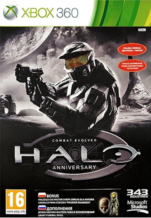 Halo: Combat Evolved AnniversaryHalo: Combat Evolved Anniversary - захватывающий ремастеринг самой первой игры Halo с Мастер Чифом и инопланетным Ковенантом, загадочными Предтечами и ужасным Потопом. Потрясающая новая графика и на 100% достоверный игровой процесс позволит вам ощутить таинственность атмосферу оригинальной игры, а также насладиться большим списком улучшений и новых возможностей, включающим в себя: Новую графику в HD и 3D; Совместную игру через Xbox LIVE; Шесть обновленных классических многопользовательских карт; Новое задание Перестрелка; Новые испытания, обновленный сюжет многое другое!