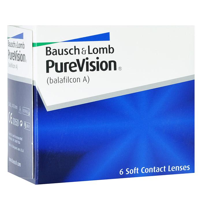 Bausch + Lomb контактные линзы PureVision (6шт / 8.3 / -0.50)09852Контактные линзы Pure Vision - это революционная разработка компании Bausch+Lomb! Использование новейших технологий дает возможность носить эту модель на протяжении месяца, не снимая. Ваши глаза не будут подвержены раздражению благодаря очень высокой кислородопроницаемости линз и особой конструкции линзы. Вам больше не придется надевать контактные линзы каждое утро, а вечером снимать их. Стоит лишь раз надеть линзы и заменить их новой парой через 30 дней. Технология AerGel используемая в Pure Vision, обеспечивает естественный уровень поступления кислорода к роговице глаза. Это достигается за счет соединения силикона и уникального гидрогеля. Технология обработки поверхности Performa делает контактные линзы постоянно увлажненными, повышает устойчивость к отложениям, делает зрение пациента максимально острым. Революционная конструкция линз Pure Vision позволяет улучшить подвижность, делает линзы очень тонкими и гладкими. Контактные линзы имеют подкраску для простоты...