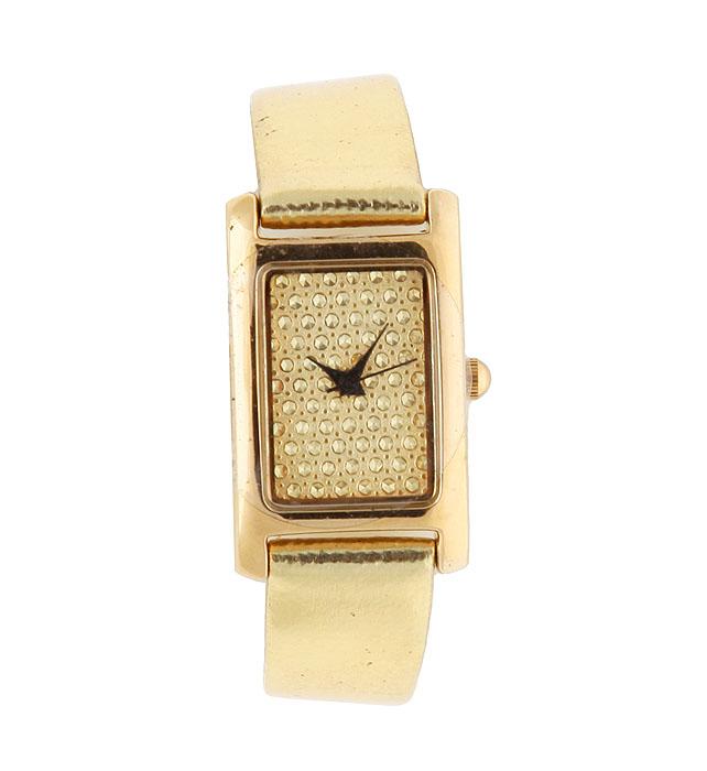 Zakazat.ru Женские наручные часы Золотой акцент. Кварцевый механизм, искусственная кожа. Китай, 2000-е годы