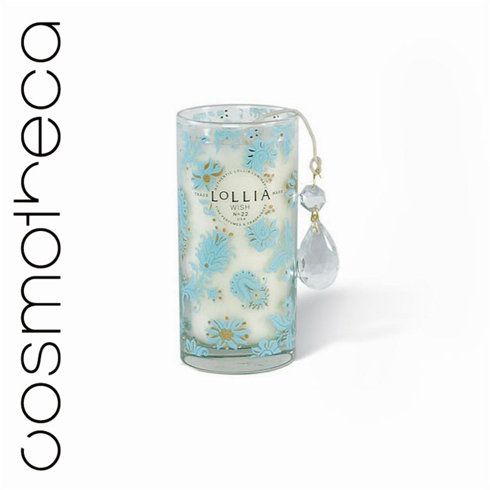 Lollia Свеча ароматизированная Желание, 300 гTKM10Q1WДорожная ароматизированная свеча Lollia Желание. Ароматические ноты: ваниль, цветы риса, глазурь, пастила, листья жасмина, иланг-иланг, янтарное дерево.