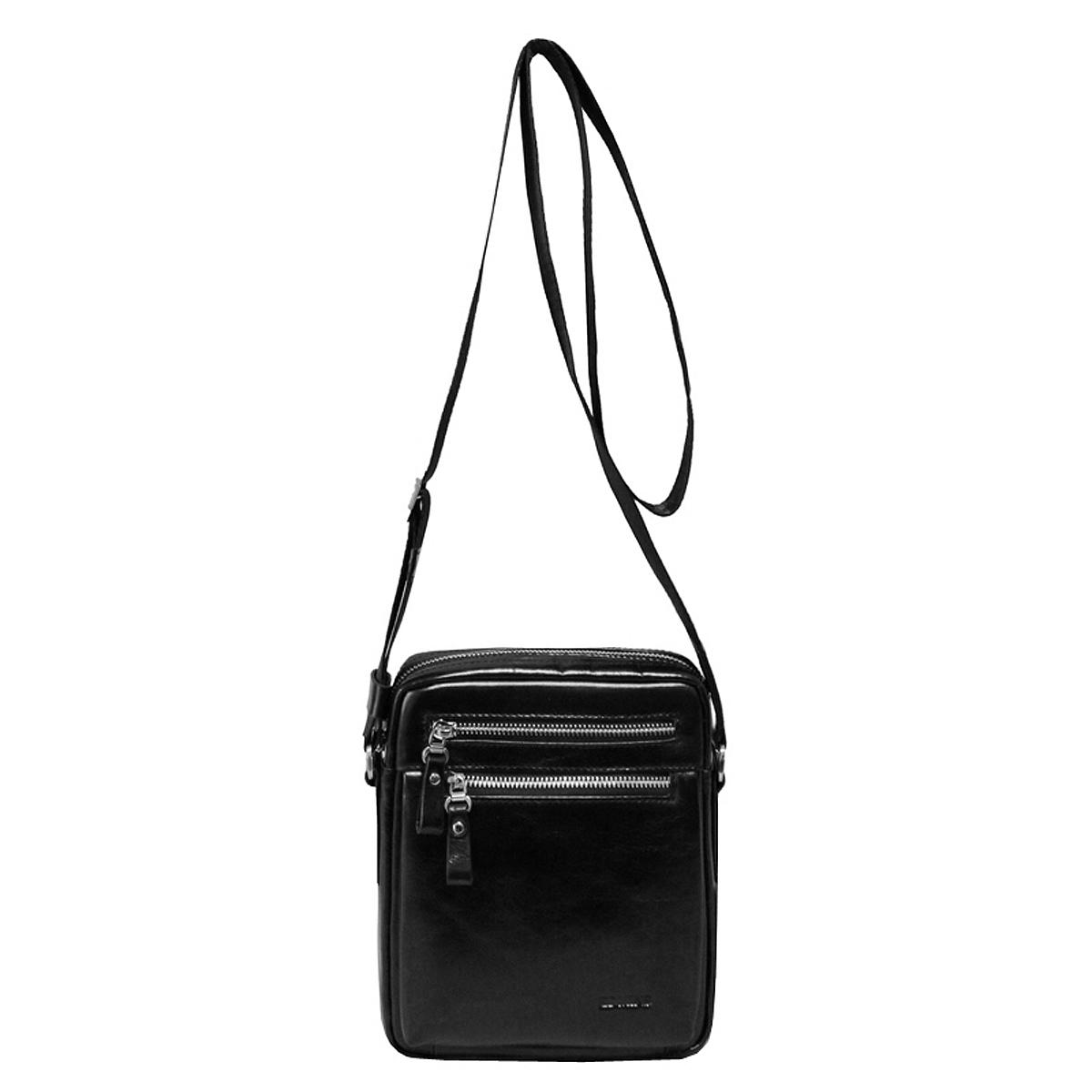 Сумка мужская Edmins, цвет: черный. 8735-2 GL black8735-2 GL blackМужская сумка Edmins выполнена из натуральной кожи черного цвета. Сумка имеет одно отделение на застежке-молнии, внутри которого расположен кармашек на застежке-молнии, два накладных кармана, два фиксатора для пишущих принадлежностей и открытый карман. На задней стенке сумки расположено кармашек для бумаг, который закрывается на магнит. На лицевой стороне - два кармана на застежке-молнии. Для удобства предусмотрена актуальная ручка-лента регулируемой длины. Сегодня мужская сумка - необходимый аксессуар для современного мужчины. Edmins предлагает для сильной половины человечества новую коллекцию сумок. Они элегантны, удобны и прекрасно дополнят образ владельца, сделав его при этом завершенным и стильным.