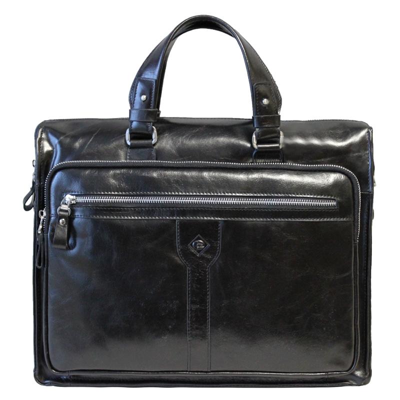 Сумка мужская Edmins, цвет: черный. 1062 A-1 GL black1062 A-1 GL blackМужская сумка Edmins выполнена из натуральной кожи черного цвета с глянцевой поверхностью. Сумка содержит одно основное отделение, которое закрывается на застежку-молнию. Внутри - отделение для ноутбука на липучке, вшитый карман на молнии, два накладных кармашка для телефона и мелких бумаг и два фиксатора для пишущих принадлежностей. На лицевой стороне сумки расположено два горизонтальных кармана на молнии. На задней стенке - отделение для бумаг на молнии. Сумка оснащена двумя удобными ручками и отстегивающимся плечевым ремнем регулируемой длины. Сегодня мужская сумка - это необходимый аксессуар, который не только уместит все необходимые вещи, но и подчеркнет ваш стиль.