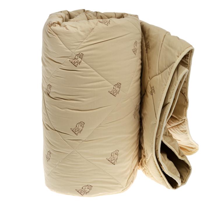 """Одеяло всесезонное OL-Tex """"Верблюжья шерсть"""", наполнитель: верблюжья шерсть, цвет: бежевый, 200 см х 220 см"""