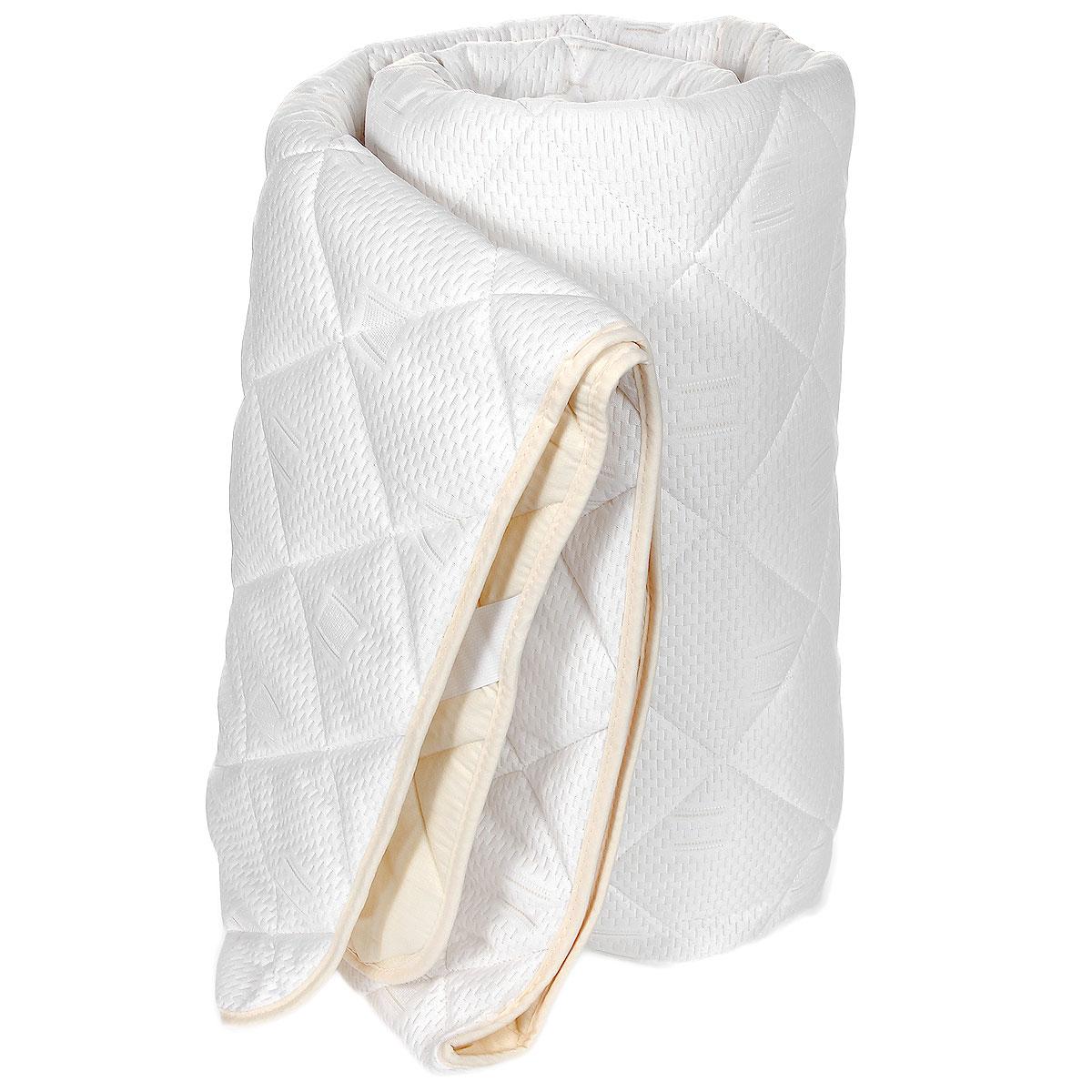 Наматрасник OL-Tex Бамбук, цвет: сливочный, 90 х 200 смОБТ-90Наматрасник OL-Tex Бабмук с наполнителем из полиэфирного высокосиликонизированного микроволокна на основе бамбука сделает ваш сон еще комфортнее. Чехол выполнен из поликоттона сливочного цвета и оформлен декоративной стежкой в виде крупных ромбов, что обеспечивает равномерное распределение тепла. Изделие изготовлено из экологичных природных и нетоксичных материалов, обладает антисептическим эффектом, гигиенично и не вызывает аллергии. Наматрасник оснащен резинками по углам, поэтому прочно удерживается на матрасе и избавляет от необходимости часто поправлять. Это защитит матрас от грязи и пыли и придаст дополнительный комфорт вашему спальному месту. Мягкий и легкий, он прекрасно подойдет для жестких кроватей и диванов, делая ваш сон спокойным и приятным. Легко стирается. Бамбуковое волокно - это экологически чистая основа для создания наполнителя нового поколения, имеет естественные антибактериальные и дезодорирующие функции. Обладает прекрасной воздухопроницаемостью и...