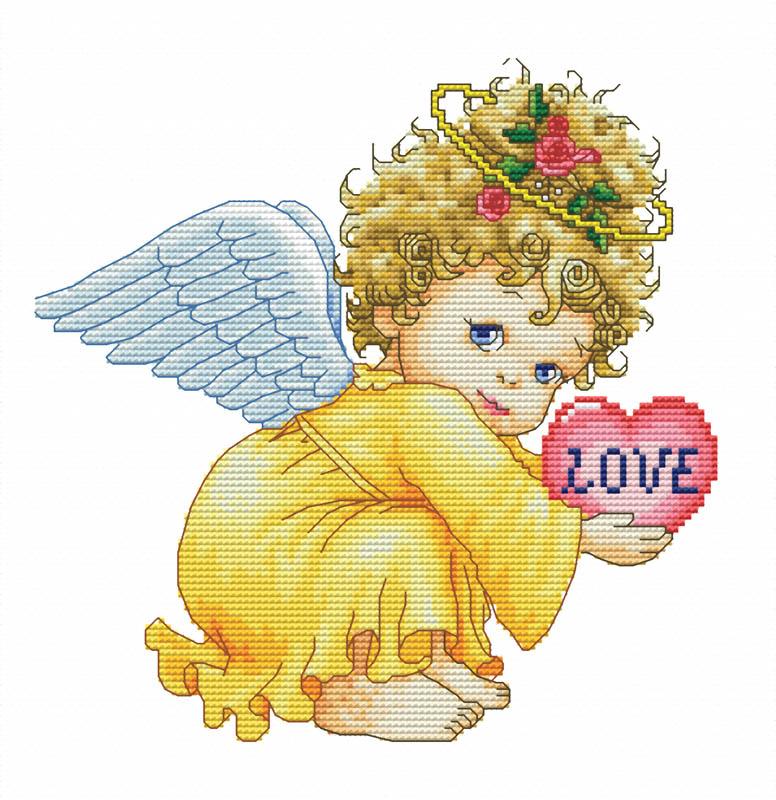 Набор для вышивания крестом Маленький ангел, 30 х 30 см570-14 Маленький ангелВ наборе для вышивания крестом Маленький ангел есть все необходимое для создания собственного чуда: обработанная канва Аида 14СТ белого цвета, хлопковые мулине, цветная символьная схема и инструкция по вышиванию. Красивый и стильный рисунок-вышивка, выполненный на канве, выглядит оригинально и всегда модно. Канва в наборах обработана крахмальным средством и полужесткая, что позволяет вышивать как с пяльцами, так и без них. Нитки, применяемые в наборах, изготавливаются из хлопка, гладкие, ровные, имеют стойкую окраску. Работа, сделанная своими руками, создаст особый уют и атмосферу в доме, и долгие годы будет радовать вас и ваших близких. Работа, которая отвлечет вас от повседневных забот, и превратится в увлекательное занятие!