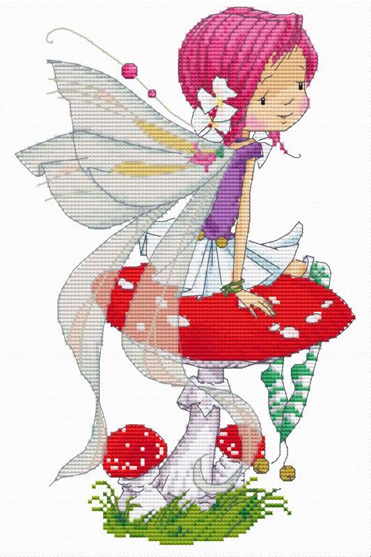 Набор для вышивания крестом Феечка на мухоморе, 19 см х 28 см904-14 Феечка на мухомореВ наборе для вышивания крестом Феечка на мухоморе есть все необходимое для создания собственного чуда: обработанная канва Аида 14СТ белого цвета, хлопковые мулине, цветная символьная схема и инструкция по вышиванию. Красивый и стильный рисунок-вышивка, выполненный на канве, выглядит оригинально и всегда модно. Канва в наборах обработана крахмальным средством и полужесткая, что позволяет вышивать как с пяльцами, так и без них. Нитки, применяемые в наборах, изготавливаются из хлопка, гладкие, ровные, имеют стойкую окраску. Работа, сделанная своими руками, создаст особый уют и атмосферу в доме, и долгие годы будет радовать вас и ваших близких. Работа, которая отвлечет вас от повседневных забот, и превратится в увлекательное занятие!