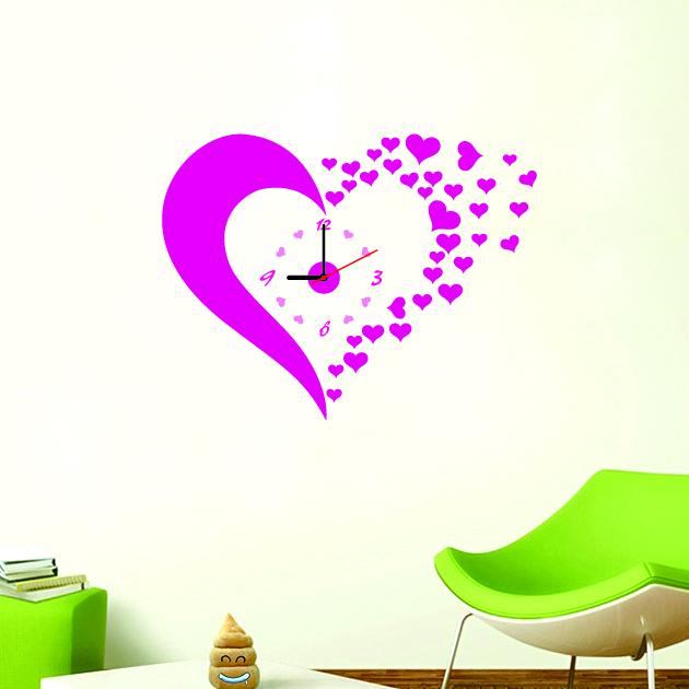 Настенные декоративные часы-стикеры Perfecto Hearts. GLM-T004GLM-T004Настенные декоративные часы-стикеры Hearts в виде розового сердца добавят в интерьер вашего дома оригинальности. Часы представляют собой стикер, выполненный из винила - тонкого эластичного материала, который хорошо прилегает к любым гладким и чистым поверхностям, легко моется и долго держится, после удаления не оставляет следов. Циферблат выполнен из плотного картона и имеет три стрелки - часовую, минутную и секундную, клеится к поверхности также при помощи стикера. Такие часы станут интересным дизайнерским решением не только спальни, гостиной или детской, но также и офиса. Характеристики: Материал: винил, пластик, картон. Цвет: розовый. Диаметр циферблата: 9,5 см. Размер упаковки: 18,5 см х 32 см х 4 см. Артикул: GLM-T004. Рекомендуется докупить одну батарейку типа АА, в комплект не входит.