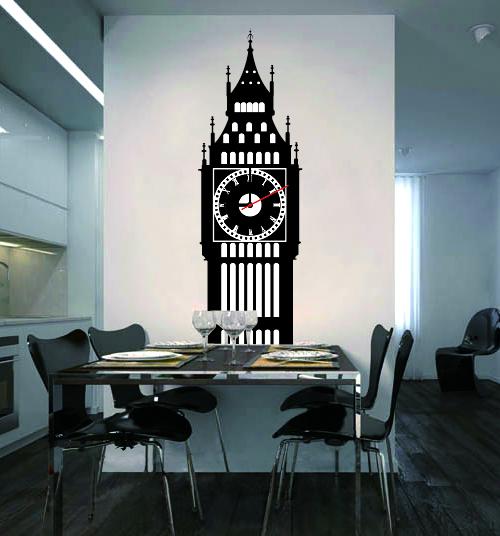 Настенные декоративные часы-стикеры Perfecto
