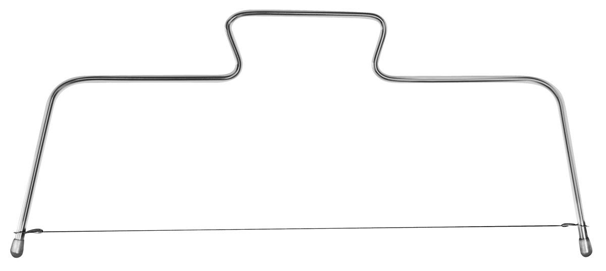 Нож-струна кулинарный Fackelmann43403Кулинарный нож-струна Fackelmann, изготовленный из хромированной стали, предназначен для нарезания коржей. Коржи получаются ровные, и можно регулировать их толщину. С таким ножом вы легко разрежете корж на 3 или 4 части. К ножу прилагает одна запасная струна.