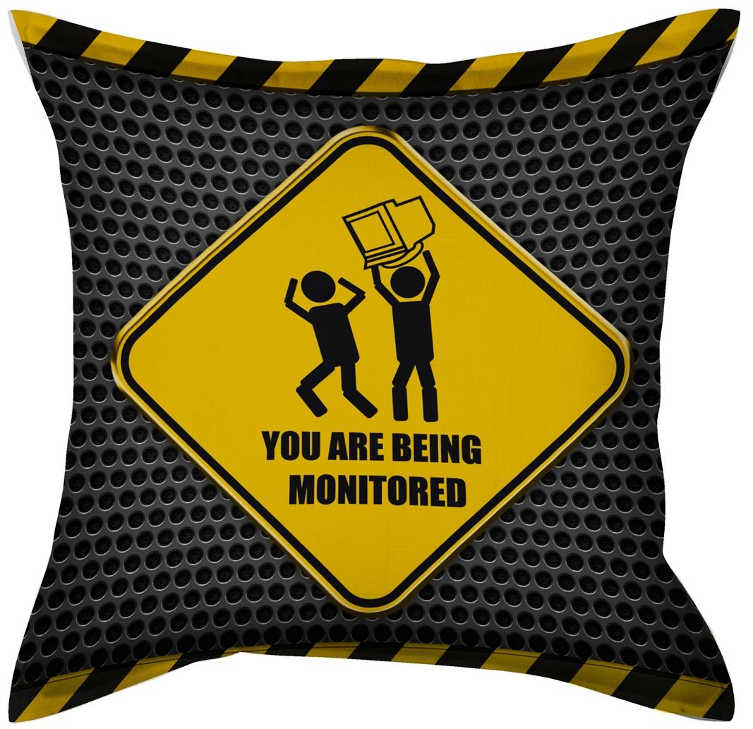Подушка декоративная фото печать 45*45 (1 шт.), цвет: дорожный знак. П W1822(1687) V70