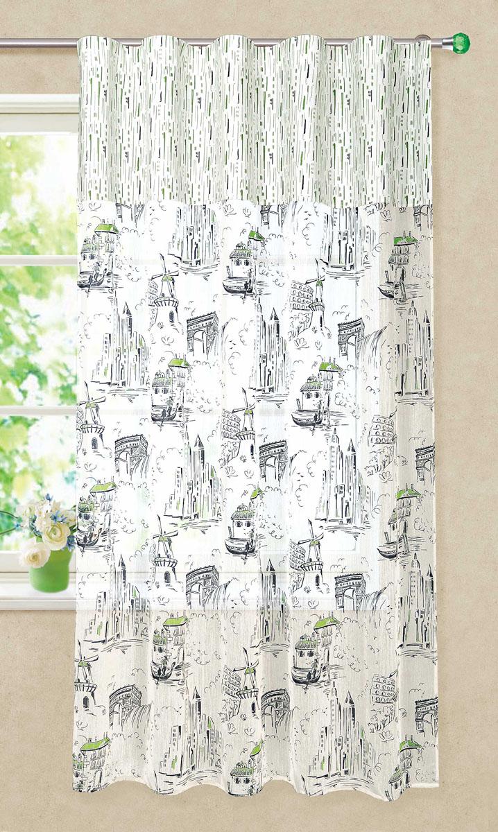 Штора готовая для кухни Garden, на ленте, цвет: серый, зеленый, размер 150* 180 см. С 3215 - W1979 - W1687 V11С 3215 - W1979 - W1687 V11Штора тюлевая для кухни Garden выполнена из легкой ткани батиста (полиэстера) с изображением венецианских каналов. Легкая текстура материала и яркая цветовая гамма привлекут к себе внимание и станут великолепным украшением кухонного окна. Штора добавит уюта и послужит прекрасным дополнением к интерьеру кухни. Изделие оснащено шторной лентой для красивой сборки.